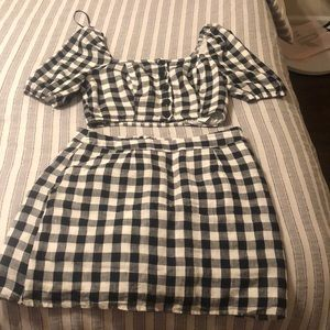 Forever 21 plaid two piece set